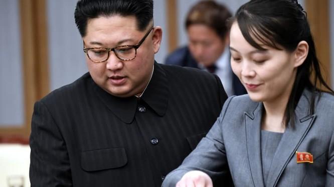 Ông Kim Jong-un và bà Kim Yo Jong trong hội nghị thượng đỉnh liên Triều (Ảnh: CNBC)