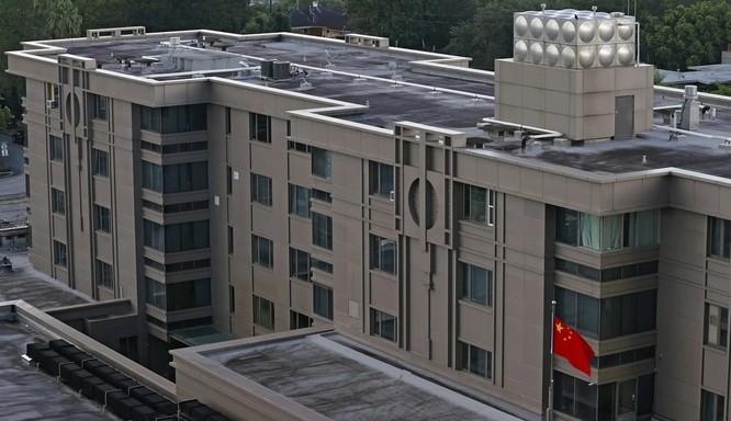Văn phòng lãnh sự quán Trung Quốc tại Houston (Ảnh: EPA)