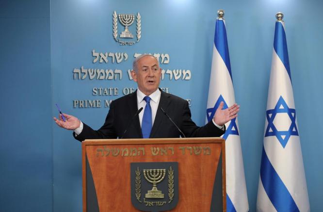 Thủ tướng Israel Benjamin Netanyahu thông báo về thỏa thuận mới đạt được với UAE (Ảnh: Reuters)