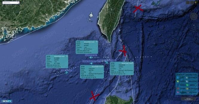 Vị trí các tàu của Mỹ (Ảnh: SCSPI)