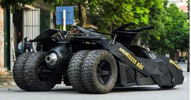 """Chàng sinh viên Việt Nam tự chế tạo """"siêu xe"""" Batmobile tốn hơn nửa tỷ đồng ảnh 2"""