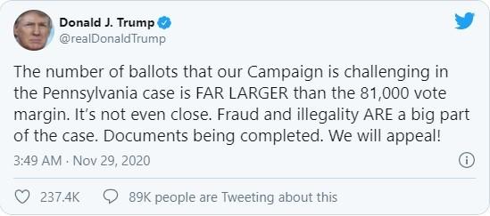 """Tổng thống Trump: """"Chúng tôi phát hiện rất nhiều phiếu bầu phi pháp"""" ảnh 2"""