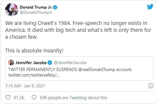 """Tổng thống Trump bị Twitter, các mạng xã hội """"chặn họng"""" ảnh 2"""