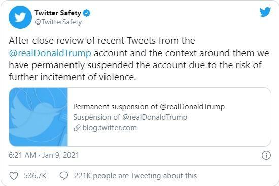 """Tổng thống Trump bị Twitter, các mạng xã hội """"chặn họng"""" ảnh 1"""