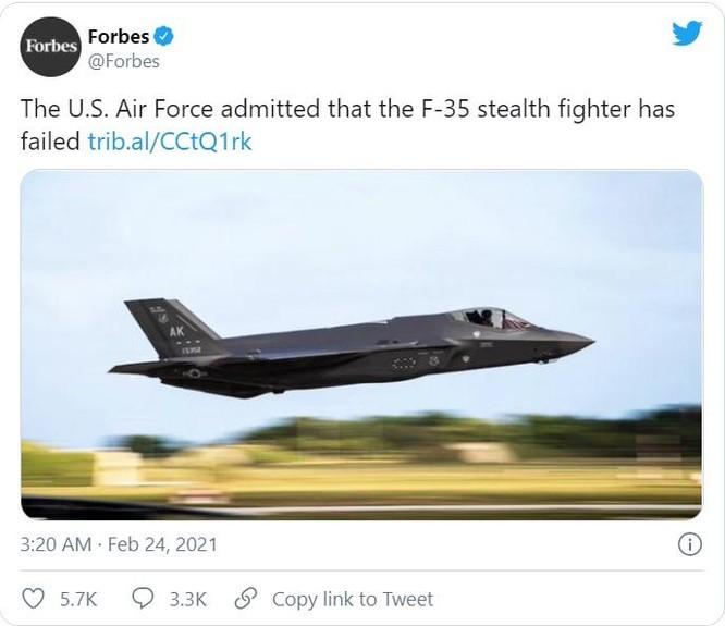 """Dân Mỹ phẫn nộ: Tốn 1,7 nghìn tỉ USD, chương trình F-35 bị coi là """"thất bại"""" ảnh 1"""