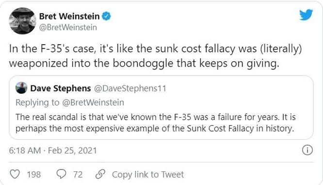"""Dân Mỹ phẫn nộ: Tốn 1,7 nghìn tỉ USD, chương trình F-35 bị coi là """"thất bại"""" ảnh 2"""