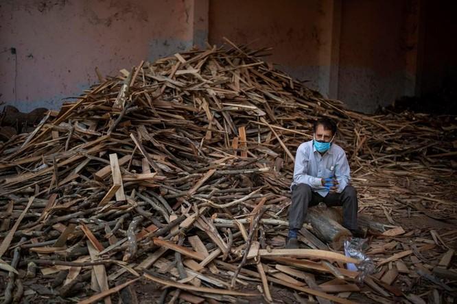 Hình ảnh chấn động về COVID-19 ở Ấn Độ: Thi thể chất đống, chính quyền đề nghị chặt cây làm hỏa táng ảnh 9