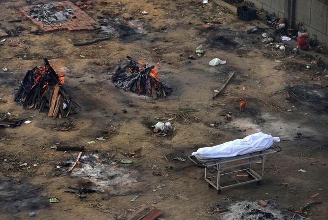 Hình ảnh chấn động về COVID-19 ở Ấn Độ: Thi thể chất đống, chính quyền đề nghị chặt cây làm hỏa táng ảnh 14