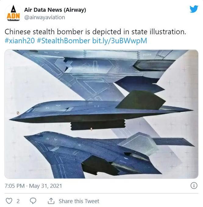 """Không quân Mỹ """"trêu ngươi"""" Trung Quốc bằng bức ảnh nghệ thuật máy bay ném bom B-21 Raider ảnh 2"""