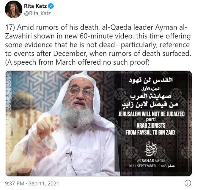 """Thủ lĩnh al-Qaeda """"đội mồ"""", xuất hiện trong đoạn băng đăng tải ngày 11/9! ảnh 2"""