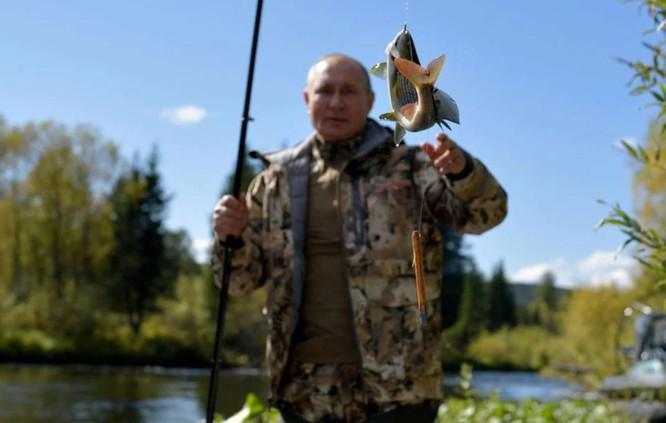 Tổng thống Putin buông cần câu cá giữa thiên nhiên hoang dã vùng Siberia ảnh 1