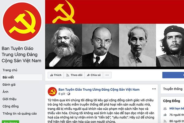Giả mạo Facebook Ban Tuyên giáo Trung ương, đưa thông tin sai vụ nước mắm