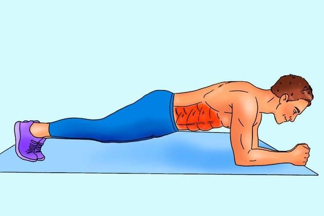 """10 động tác tập bụng tại nhà để nam giới sở hữu thân hình """"6 múi"""" ảnh 2"""