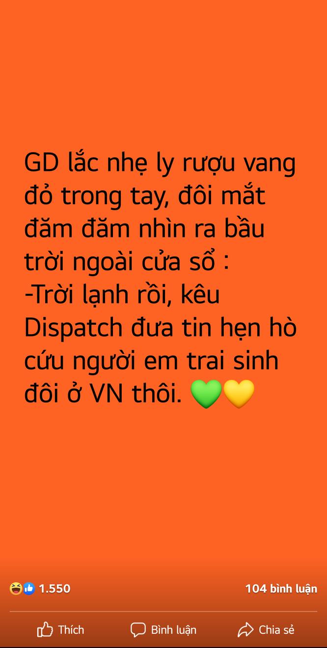 """Lộ """"hint"""" hẹn hò bí mật giữa G-Dragon và Jennie (BlackPink), fan Việt gọi tên Sơn Tùng ảnh 1"""
