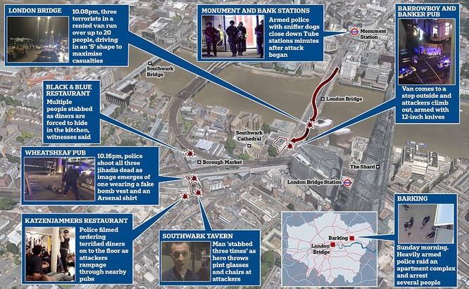 Sơ đồ vụ tấn công khủng bố. Những kẻ khủng bố bị tiêu diệt trong vòng 8 phút kể từ khi có cuộc điện thoại khẩn cấp