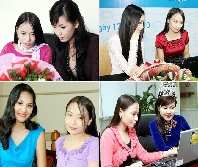 Thu Hiền từng trò chuyện với rất nhiều Hoa hậu khi họ mới đăng quang