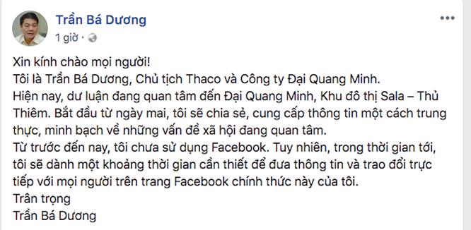 """TGĐ Đại Quang Minh lập Facebook đối thoại """"con đường dát vàng"""" ảnh 1"""