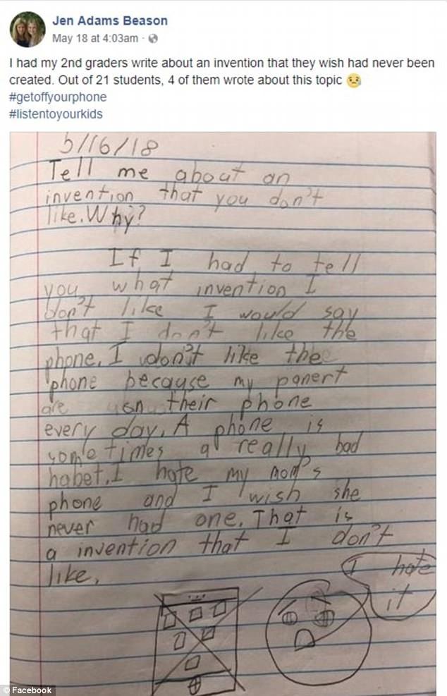 """""""Em ghét chiếc điện thoại""""- bài văn của một học sinh lớp 2 khiến nhiều bậc cha mẹ suy ngẫm ảnh 1"""