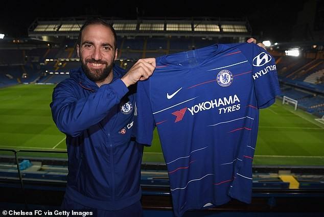 Gonzalo Higuain gia nhập Chelsea theo dạng cho mượn đến hết mùa ảnh 1
