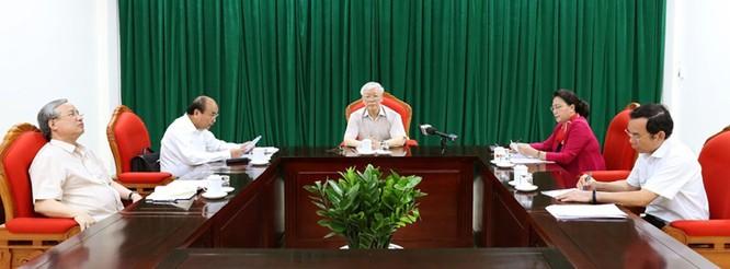 Tổng Bí thư, Chủ tịch nước Nguyễn Phú Trọng chủ trì họp lãnh đạo chủ chốt ảnh 1