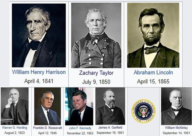 """Khủng khiếp """"Lời nguyền của Tecumseh"""": 7 đời Tổng thống Mỹ qua đời khi đang tại nhiệm ảnh 3"""