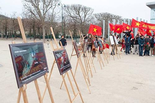 Người Việt tại Pháp xuống đường phản đối Trung Quốc ảnh 1