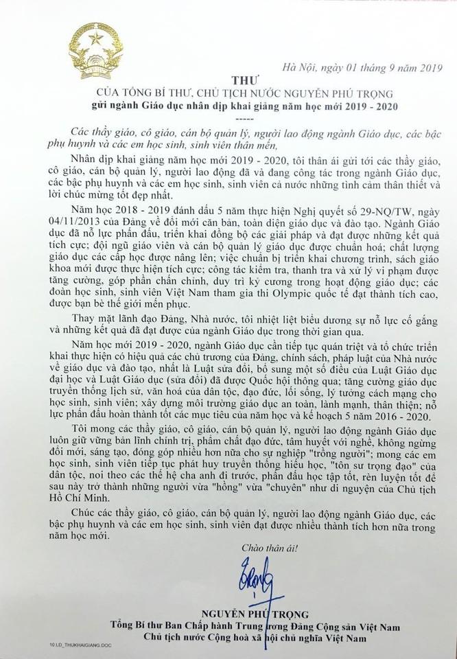 Tổng Bí thư, Chủ tịch nước Nguyễn Phú Trọng: Cần tăng cường giáo dục truyền thống lịch sử, đạo đức, lối sống, lý tưởng cách mạng cho học sinh, sinh viên ảnh 1
