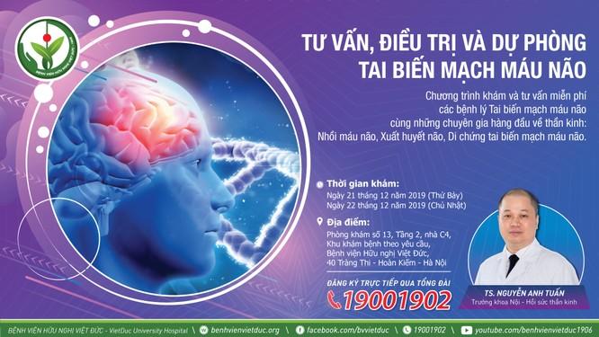 Khám và tư vấn miễn phí các bệnh tai biến mạch máu não ảnh 2
