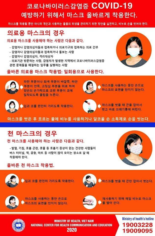 Bộ Y tế ra khuyến cáo phòng, chống COVID-19 bằng tiếng Hàn ảnh 3