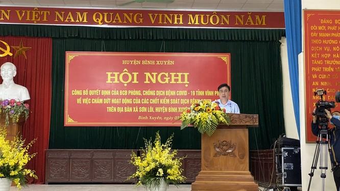 Thứ trưởng Đỗ Xuân Tuyên: Sơn Lôi hết thời gian cách ly mới chỉ là thành công bước đầu trong phòng, chống dịch COVID-19 ảnh 2