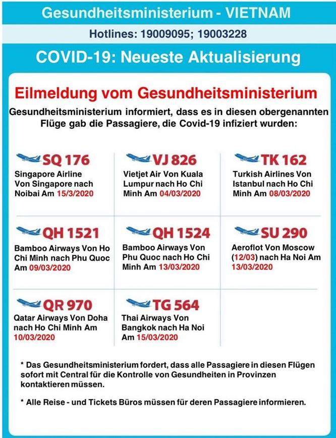Bộ Y tế thông báo 8 chuyến bay có hành khách mắc COVID-19 bằng 9 thứ tiếng ảnh 3