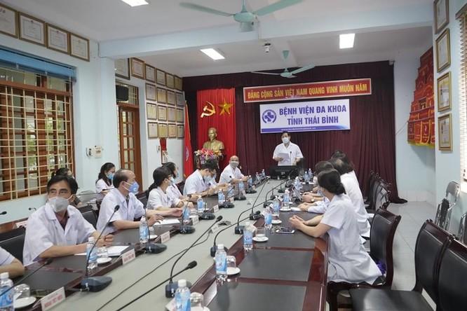Cục trưởng Cục Quản lý Khám, chữa bệnh kiểm tra công tác phòng, chống dịch COVID-19 ở Thái Bình ảnh 2
