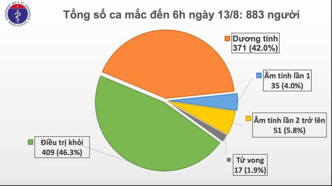 Thêm 3 ca mắc COVID-19 mới, Việt Nam đã có 883 người nhiễm virus SARS-CoV-2 ảnh 1