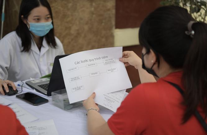 Ảnh: 35 người đầu tiên ở Hà Nội tiêm vaccine phòng COVID-19 giai đoạn II ảnh 3