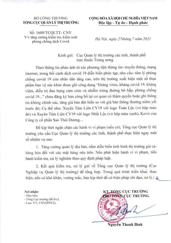 Bộ Công thương: Viên nang Kovir của Công ty CP Sao Thái Dương tăng giá bán đột biến ảnh 5