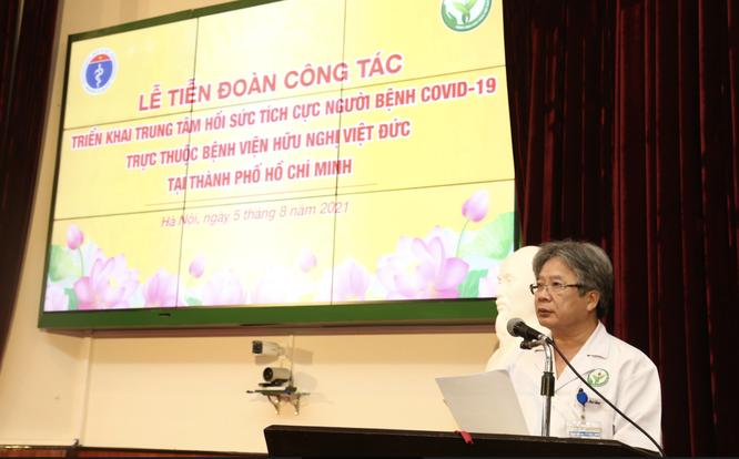 Hơn 300 bác sĩ của BV Hữu nghị Việt Đức cùng 8 tấn thiết bị lên đường vào trung tâm HSTC ở TP.HCM ảnh 1