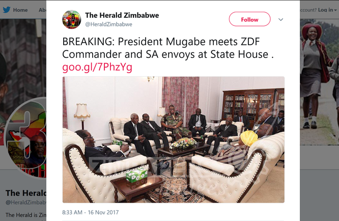 Tổng thống Zimbabwe Mugabe tươi cười xuất hiện trước báo chí ảnh 2