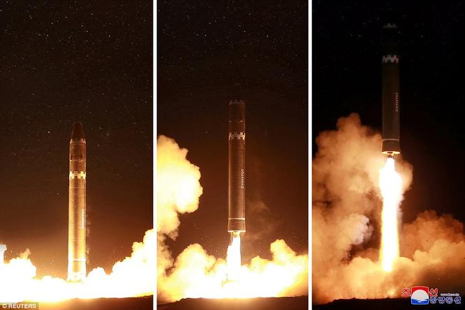 Triều Tiên phóng tên lửa ICBM: Ông Kim Jong un cười mãn nguyện, thế giới chấn động ảnh 5