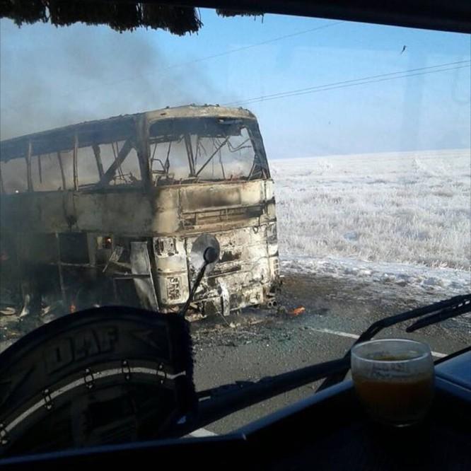 Cháy xe buýt, hơn 50 người thiệt mạng ở Kazakhstan ảnh 1
