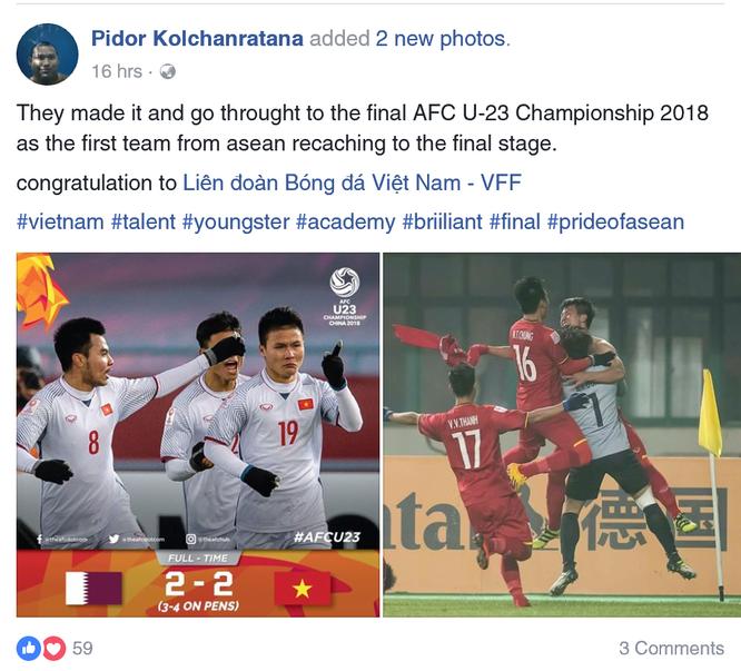 """U-23 Việt Nam lập kỳ tích """"dậy sóng"""" facebook Fan quốc tế ảnh 1"""