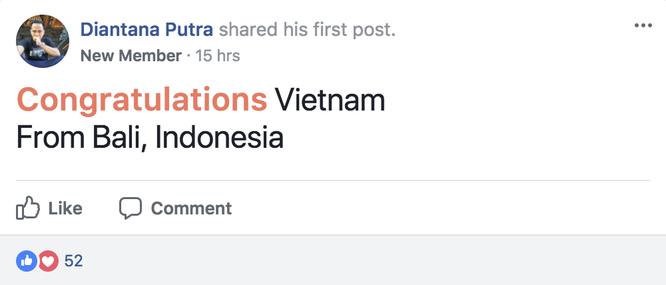 """U-23 Việt Nam lập kỳ tích """"dậy sóng"""" facebook Fan quốc tế ảnh 6"""