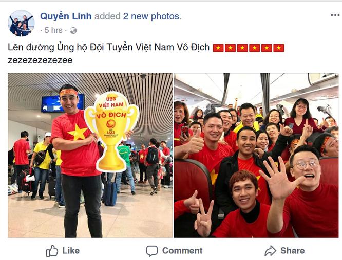Sao Việt cuồng nhiệt cổ vũ U23 Việt Nam trước thềm trận Chung kết ảnh 9
