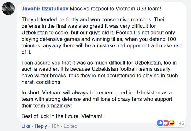 Fan quốc tế khâm phục Việt Nam sau trận chung kết AFC U23 ảnh 3