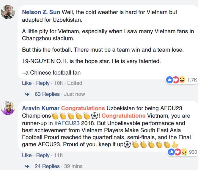 Fan quốc tế khâm phục Việt Nam sau trận chung kết AFC U23 ảnh 6