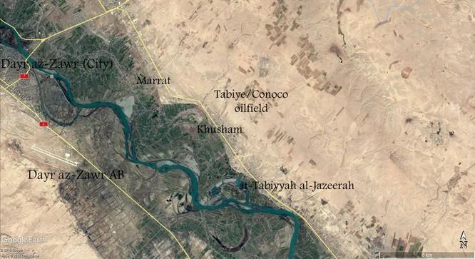 Bản đồ khu vực diễn ra vụ tấn công trong 3 giờ của Mỹ.