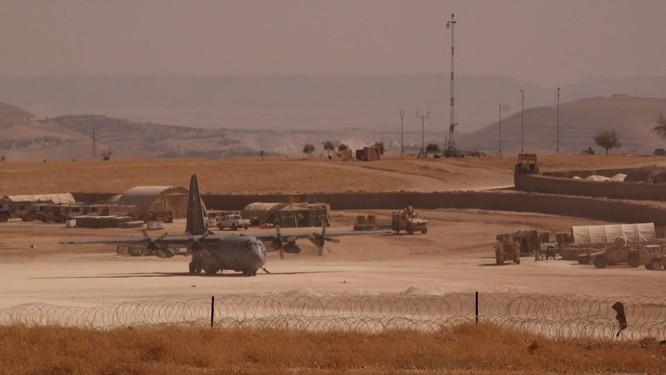 Máy bay chiến đấu của Mỹ tại bắc Syria.