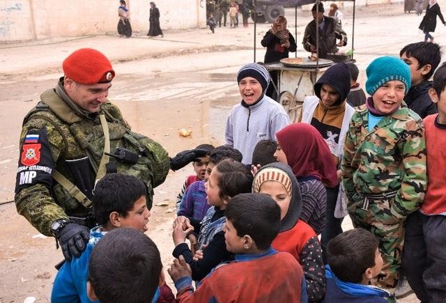 Lính Nga tại Syria.