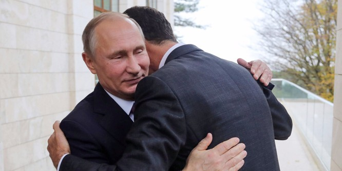 Tổng thống Nga Putin và tổng thống Syria Bashar al-Assad.