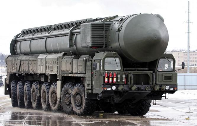 Tên lửa đạn đạo RS-28 Sarmat của Nga có thể bắn tới mọi mục tiêu trên thế giới.