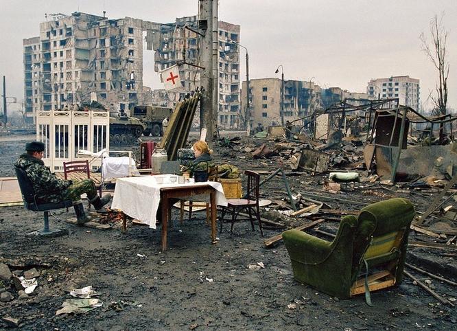 Thành phố Grozny trong Cuộc chiến Chechnya lần 2.